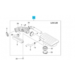 Резонатор воздуха (впускной) в сборе Лачетти 1.8 GM