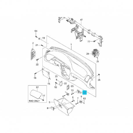 Защёлка перчаточного ящика Ланос ЗАЗ tf69y0-5325365