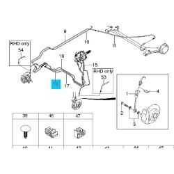 Трубка задняя тормозная правая 1-я (без ABS)