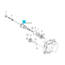 Вал первичный (ведущий) задний Ланос 1.5 Лачетти 1.8
