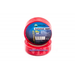 Изолента Zollex 10м красная IZ-03 Фото 1