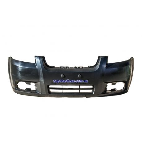 Бампер передний пластик на Шевроле Авео Chevrolet Aveo 96648503 Фото 1 96648503