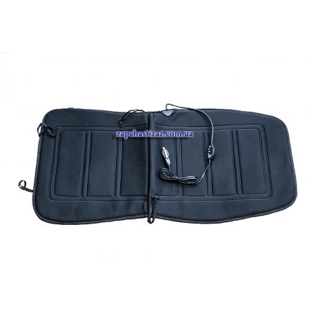 Накидка на сиденье с подогревом (без подголовника) чёрная Lavita LA 140401BK