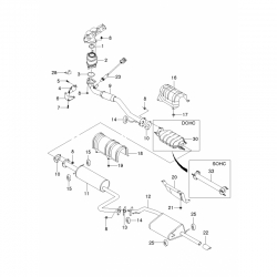 Подушка глушителя (овальная) Ланос Сенс Bosung