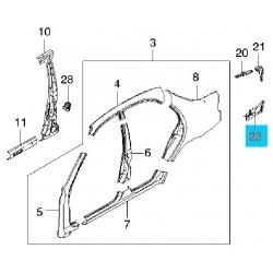 Кронштейн панели заднего крыла Ланос правый GM