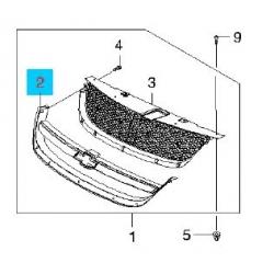 Накладка хром решётки радиатора Лачетти седан GM