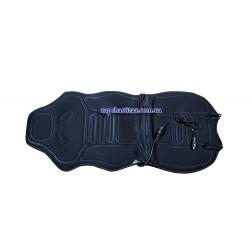 Накидка на сиденье с подогревом (с подголовником) чёрная Lavita