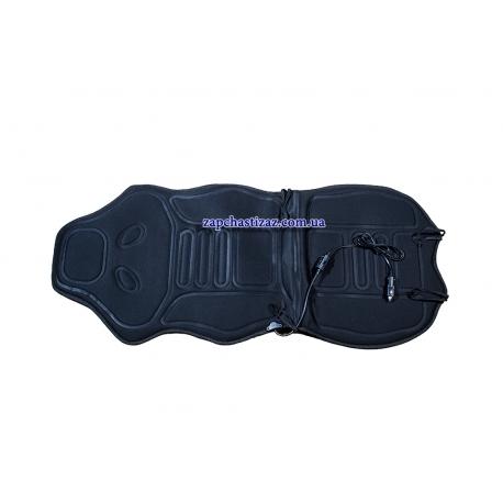 Накидка на сиденье с подогревом (с подголовником) чёрная Lavita LA 140402BK