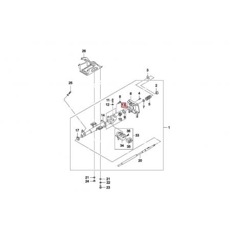 Корпус рулевой колонки с подшипником Нексия GM 07848807