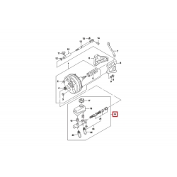 Цилиндр главный тормозной с бачком Нексия 1.5 (16 кл.) DAC