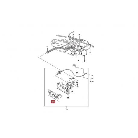Блок управления отопителем Нексия без кондиционера GM 759162