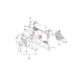Вентилятор радиатора охлаждения основной Нексия TOPIC-KAP