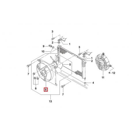 Диффузор основного вентилятора Нексия GM 96144965