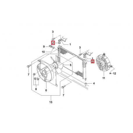 Крепление радиатора верхнее без кронштейна (втулка) Нексия GM 96144747