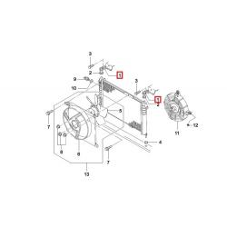 Кронштейн крепления радиатора верхний Нексия GM