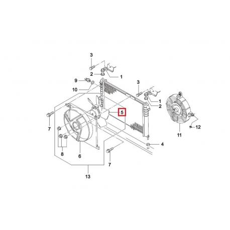 Вентилятор радиатора охлаждения основной Нексия GM 96144976
