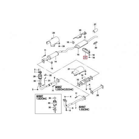 Кронштейн глушителя (зажим) Нексия GM 96081952