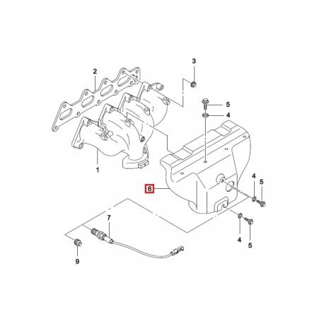 Защита выпускного коллектора Нексия 1.5 16 кл. GM 96181303