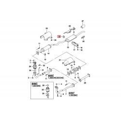Хомут (зажим) соединения глушителя с резонатором Нексия GM