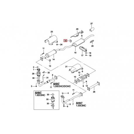 Хомут (зажим) соединения глушителя с резонатором Нексия GM 96081950
