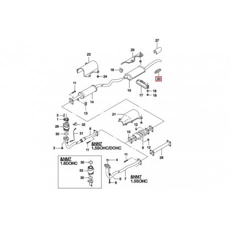 Подушка глушителя Нексия FEBI FE04706