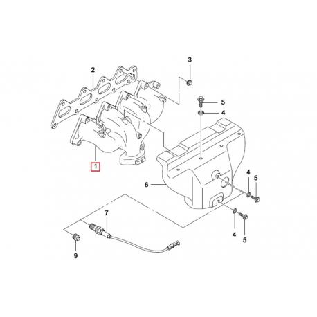 Коллектор выпускной Нексия 1.5 16 кл. GM 96184340