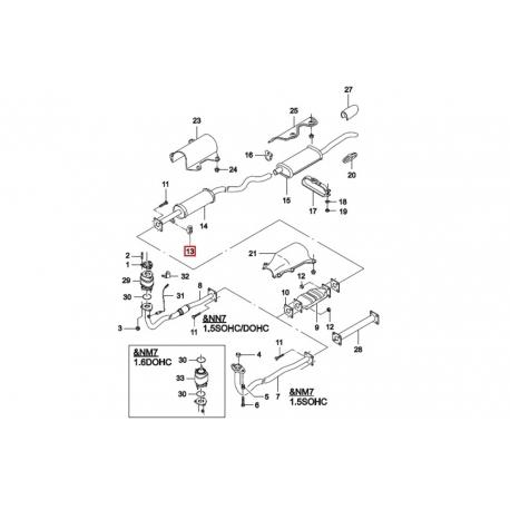 Подушка резонатора Нексия FEBI 17429