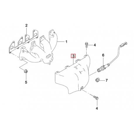 Защита выпускного коллектора Нексия 1.5 8 кл. GM 96143351