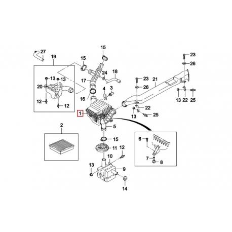 Корпус воздушного фильтра в сборе Нексия GM 96143221