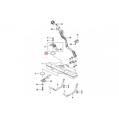 Прокладка блока топливного насоса Нексия GM 90232009