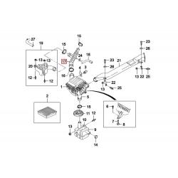 Шланг (гофра) воздушного фильтра в сборе Нексия 1.5 8-кл. GM