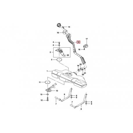 Шланг горловины бензобака Нексия этилированное топливо GM 96180420
