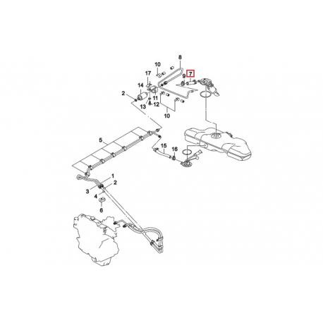 Шланг топливного насоса Нексия GM 96122454