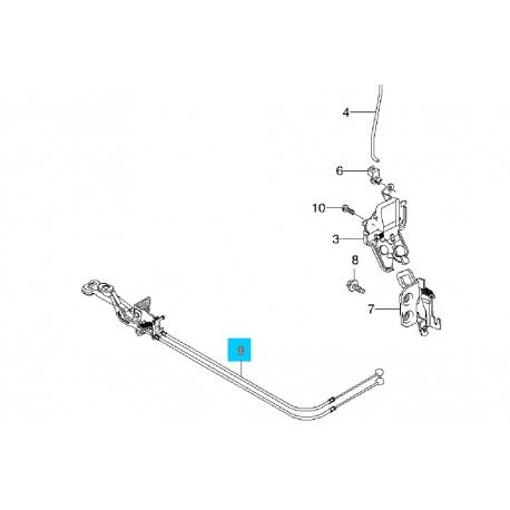 Трос багажника без ручки GM 96216134