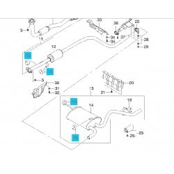 Подушка глушника передня, труби приймальні і резонатора Матіз Fischer
