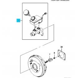 Головний гальмівний циліндр з бачком Матіз без АБС OE