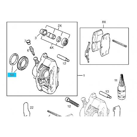 Ремкомплект цилиндра суппорта (без направляющих и пыльника) Ланос Нексия Матиз KOS 3487152