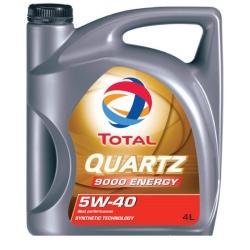 Масло TOTAL QUARTZ 9000 ENERGY 5W-40 синтетика 4л
