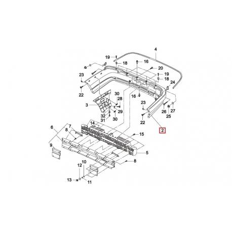 Бампер задний (скорлупа) Нексия N150 Genuine S3041101