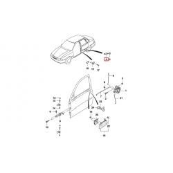 Болт (фиксатор) замка двери Нексия GM