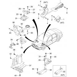 Подушка Двигуна ліва Лачетті 1.6 GM