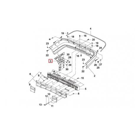 Кронштейн крепления заднего бампера Нексия N150 правый GM 96916712