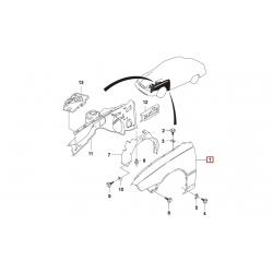 Крыло переднее правое Нексия (без отверстия под поворотник) GM