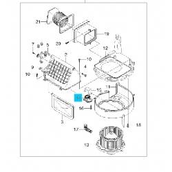 Резистор вентилятора печки Матиз GM
