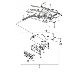 Блок управления отопителем без кондиционера Нексия в сборе GM
