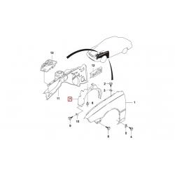 Подкрылок передний правый Нексия GM