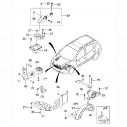 Подушка двигателя Такума 1.6, 2.0 левая GM