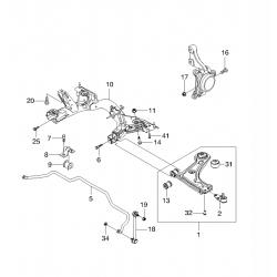 Рычаг передней подвески правый Такума GM