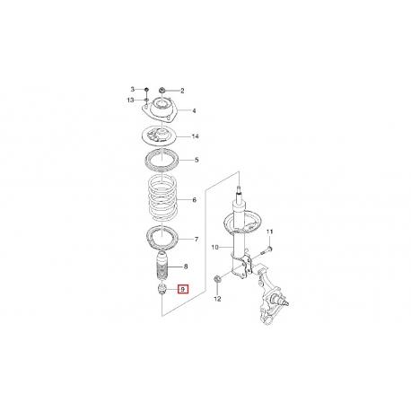 Буфер сжатия заднего амортизатора Нубира GM 96300285