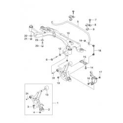 Сайлентблок переднего рычага задний Леганза GM
